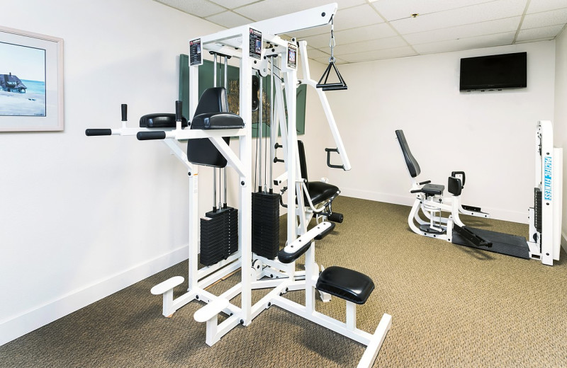 Fitness room at Surfrider Resort.