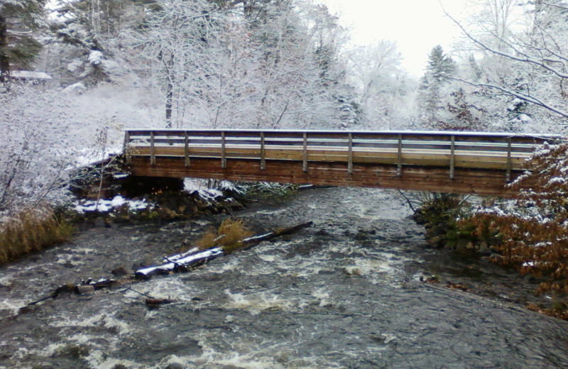 Winter time at Evergreen Lodge.