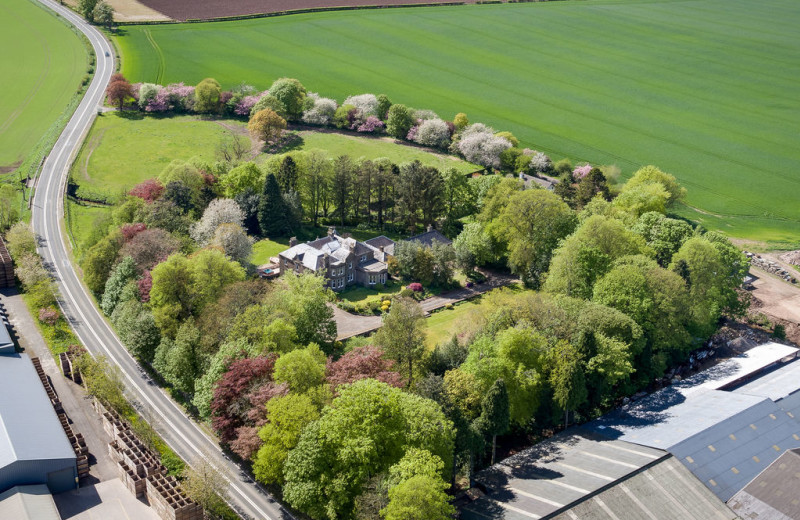 Aerial view of Castleton House Hotel.