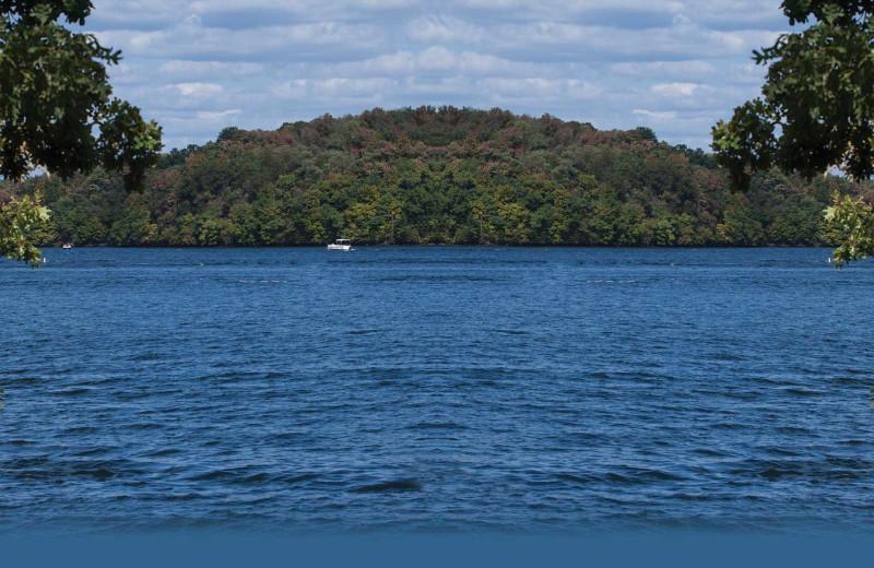 Lake view at Holiday Shores Resort.