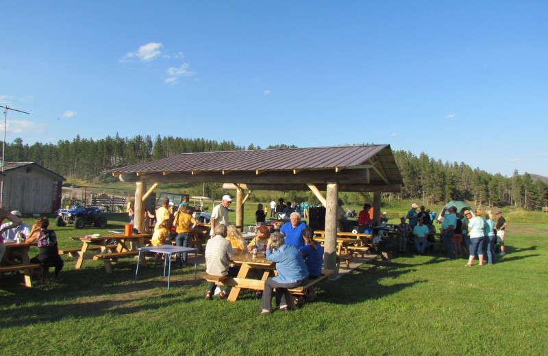 Picnic area at High Country Guest Ranch.