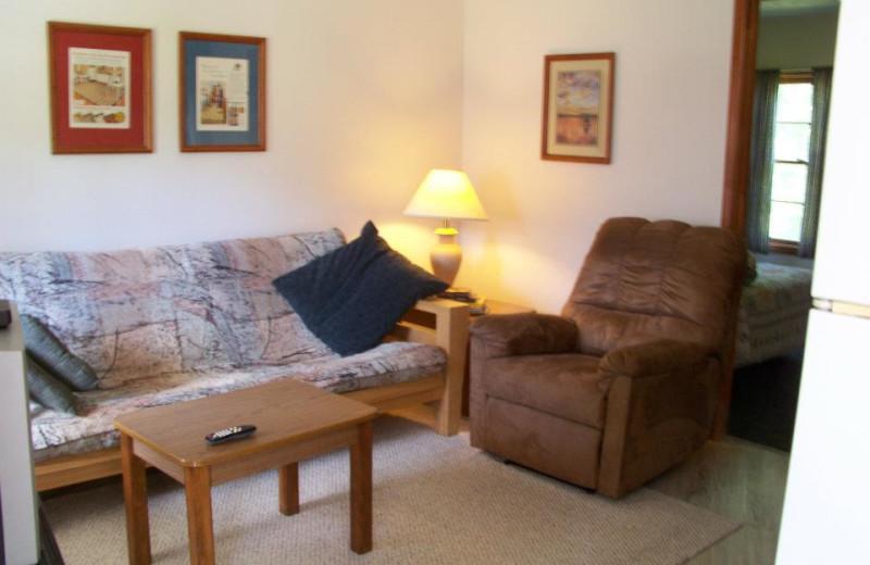 Cottage Living Room at Ridgecrest Resort