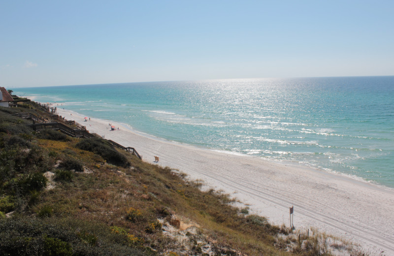 Beach at Seagrove On The Beach Property Rentals.