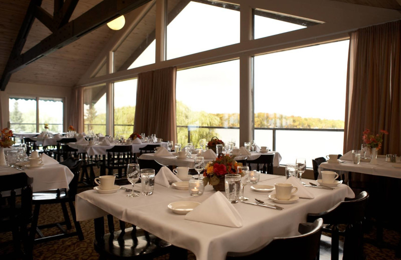 Dining at Cragun's Resort and Hotel on Gull Lake.