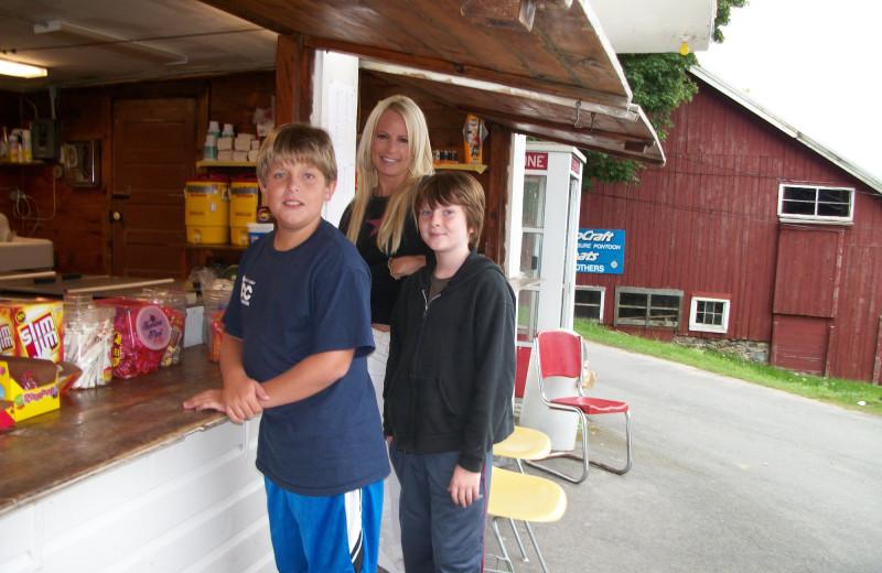 Snack shack at Peck's Lake Resort.