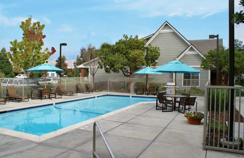 Outdoor pool at Residence Inn Milpitas Silicon Valley.