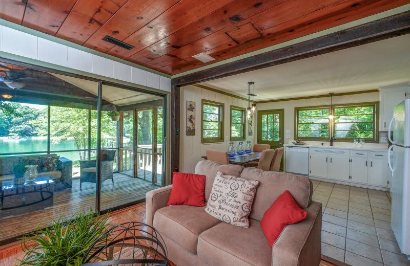 Rental living room at StayLakeNorman Luxury Vacation Rentals.