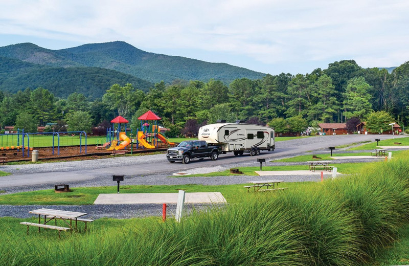 RV camp at Yogi Bear's Jellystone Park™ in Luray, VA.