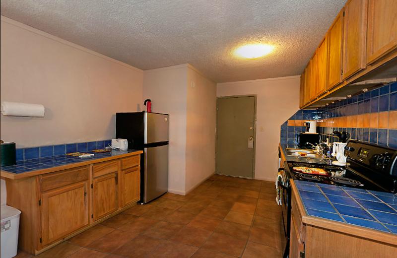 Apartment kitchen at Moab Rustic Inn.