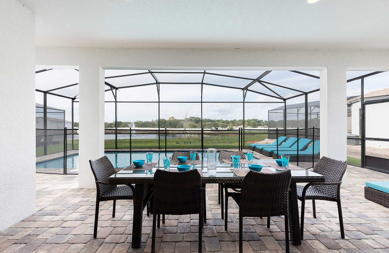 Rental patio at Balmoral Resort.