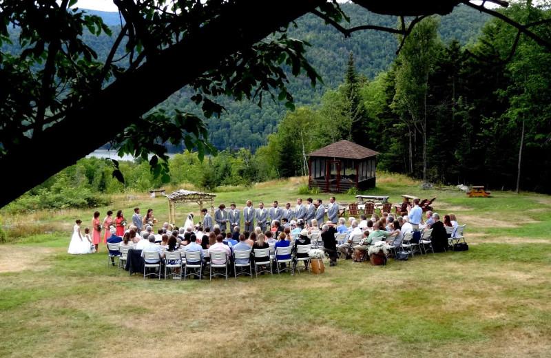 Weddings at Garnet Hill Lodge.