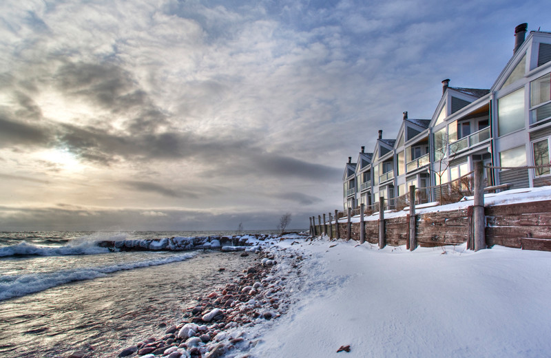 Exterior view at Bluefin Bay on Lake Superior.