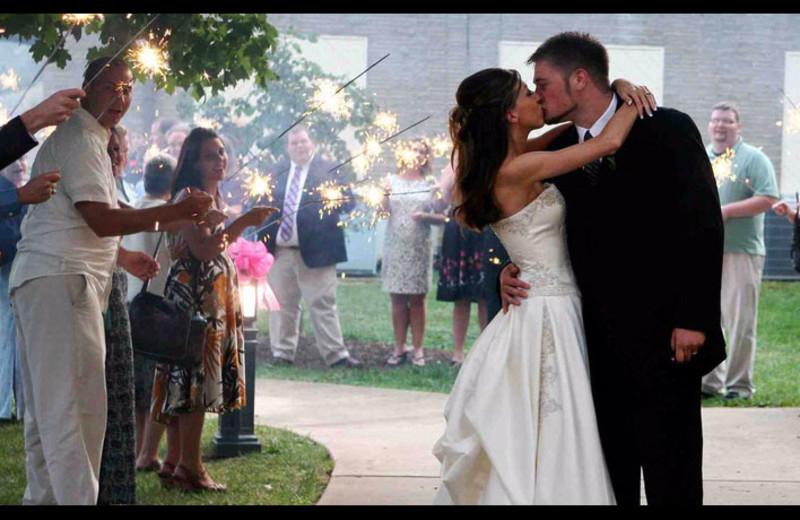 Wedding couple at Lake Junaluska Conference & Retreat Center.