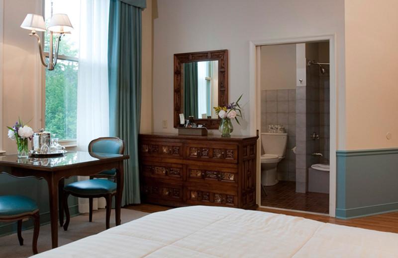 Guest bedroom at La Tourelle Resort & Spa.