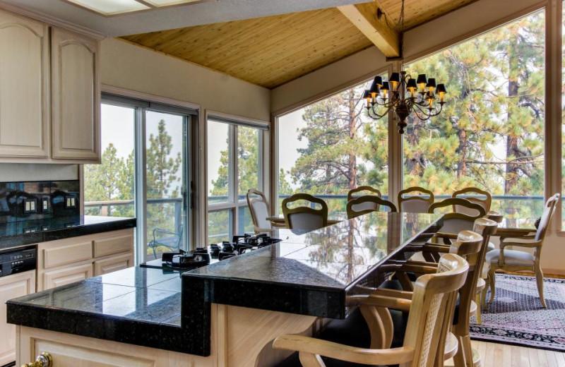 Vacation rental kitchen at Vacasa Rentals Lake Tahoe.