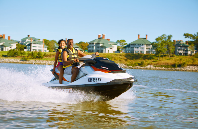Jet skiing at Kingsmill Resort.