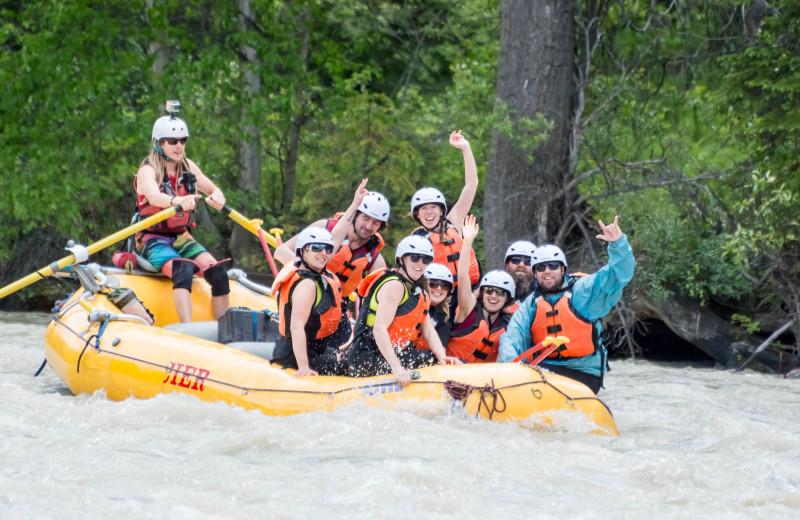 Rafting at Cedar House Restaurant & Chalets.