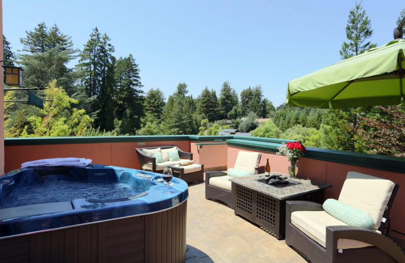 Guest jacuzzi at Applewood Inn, Restaurant and Spa.