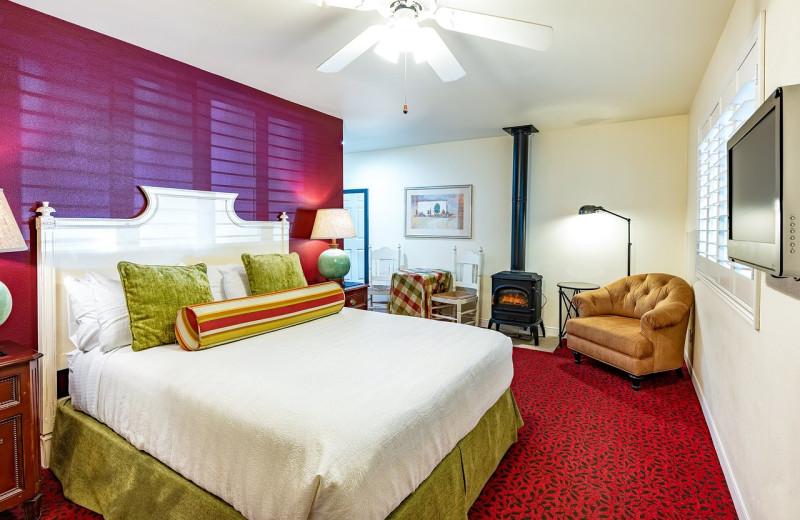 Guest room at EuroSpa & Inn.