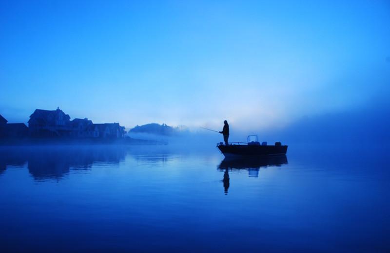Fishing at Railey Mountain Lake Vacations.