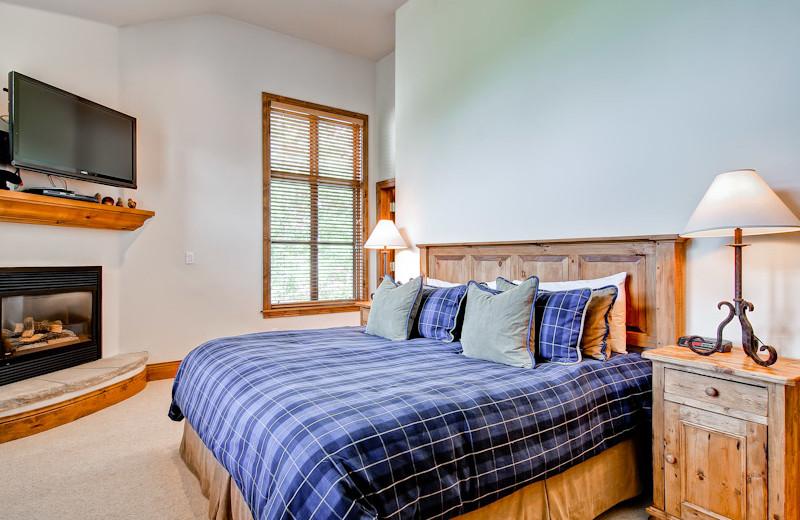 Rental bedroom at Beaver Creek Rentals by Owner.