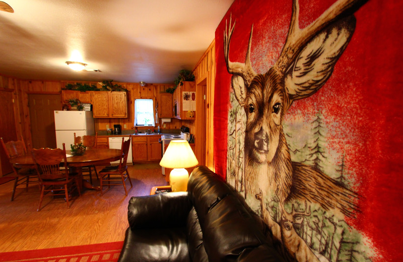 Interior view at Heath Valley Cabins.