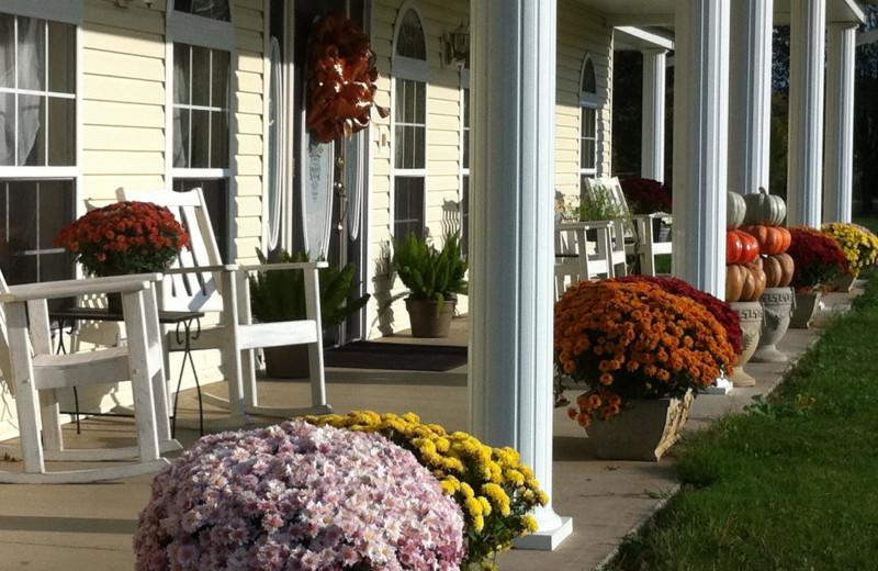 Porch view at The Abbe House Inn.