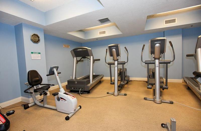 Fitness room at Calypso Resort & Spa.