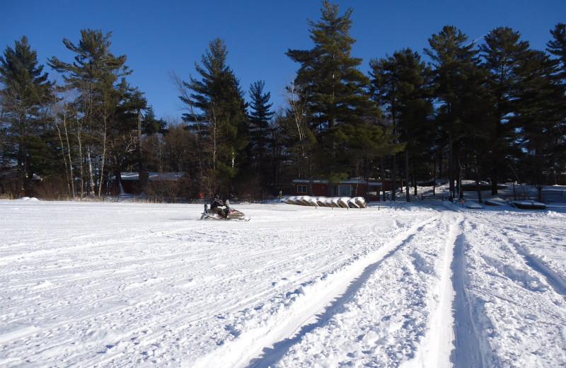 Winter time at Holiday Acres Resort.