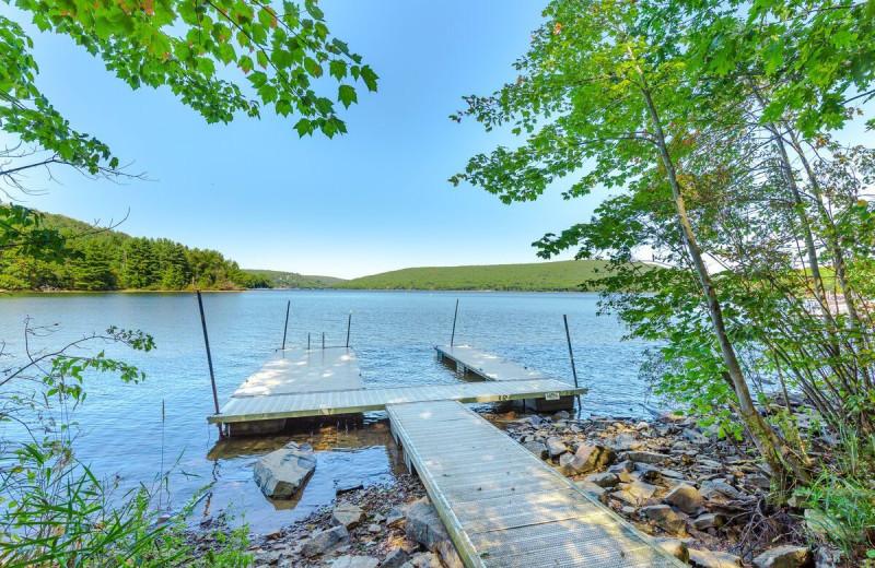 Rental lake view at Railey Vacations.