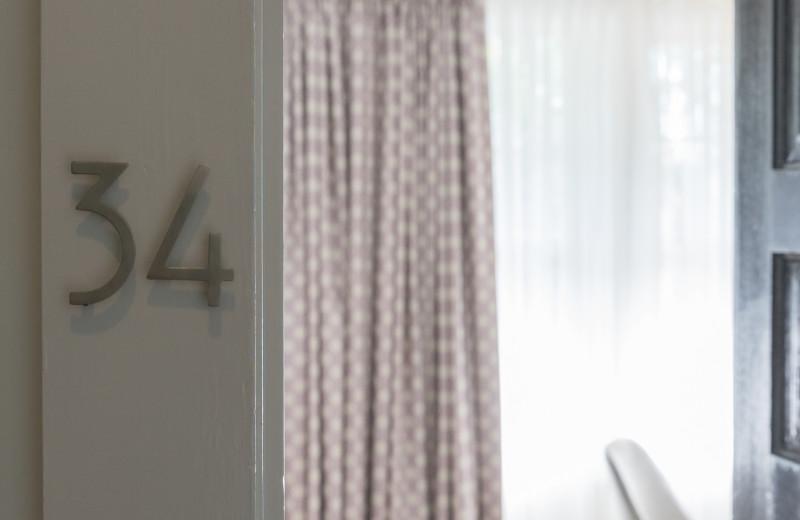 Guest room at Oakhurst Inn.
