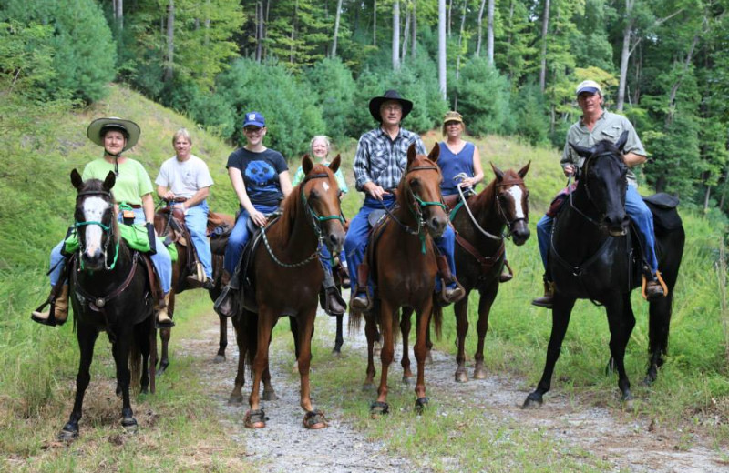 Horseback riding at Leatherwood Mountains Resort.