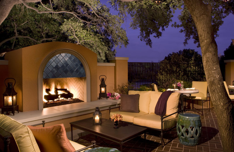 Fireside patio at Rosewood Mansion on Turtle Creek.