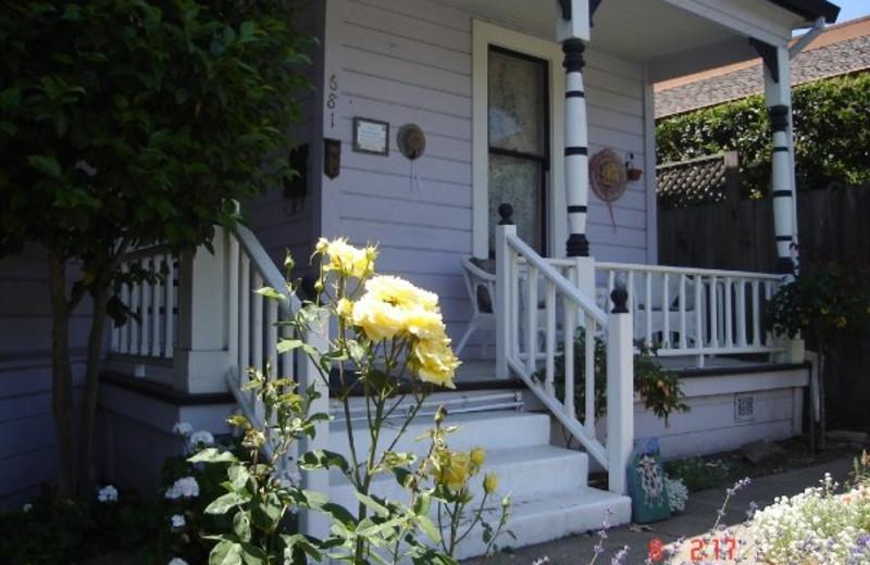 Front porch at Magliulo's Rose Garden Inn.