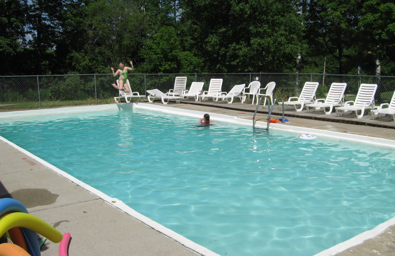 Outdoor pool at Cedar Point Resort.