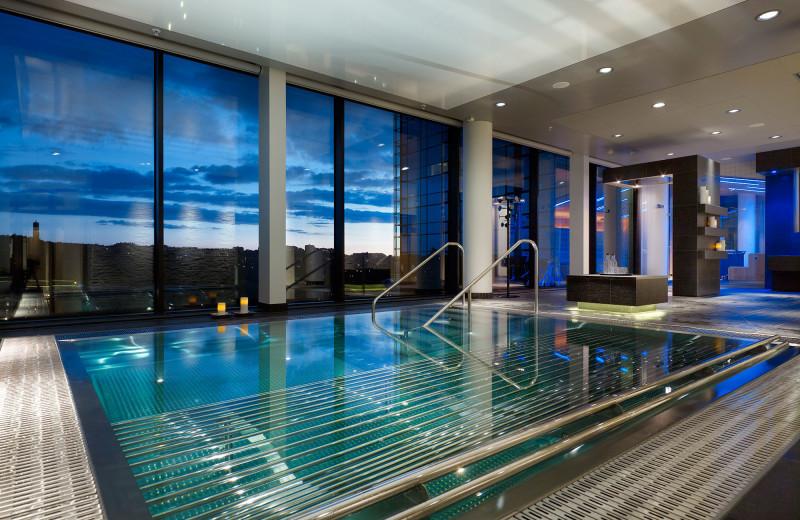 Indoor pool at Hotel Gothia.