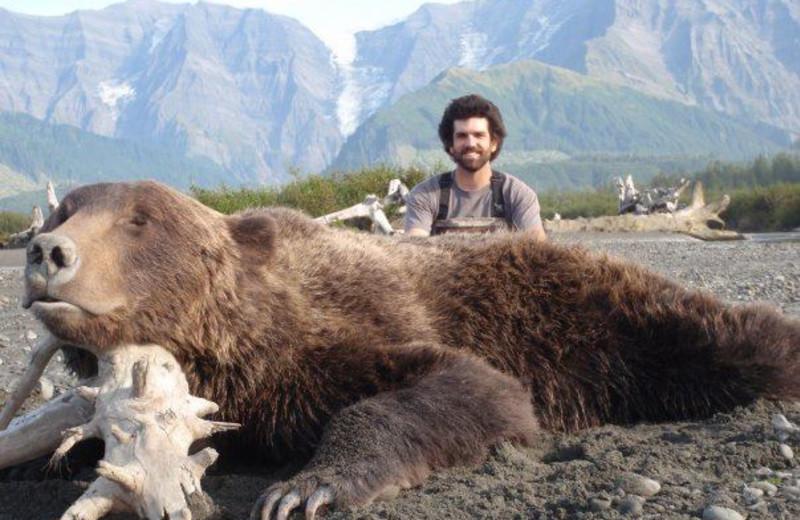 Coastal brown bear hunting at Port Lions Lodge.