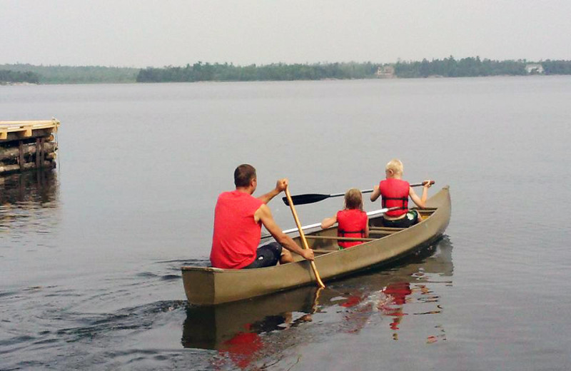Canoeing at Driftwood Lodge Resort.