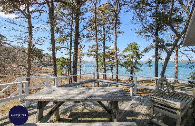 Rental beach view at Sandpiper Rentals.