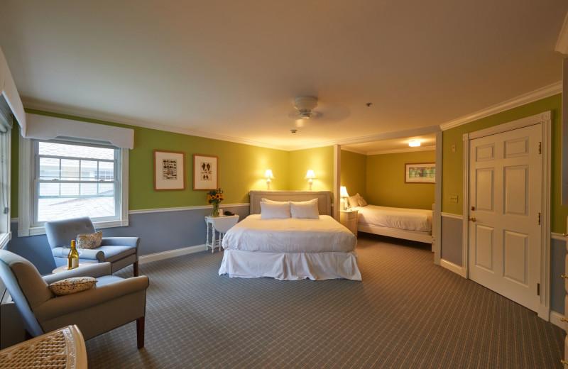 Guest room at The Inn at Ocean's Edge.