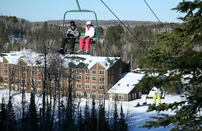 Skiing at The Lodge at Giants Ridge.