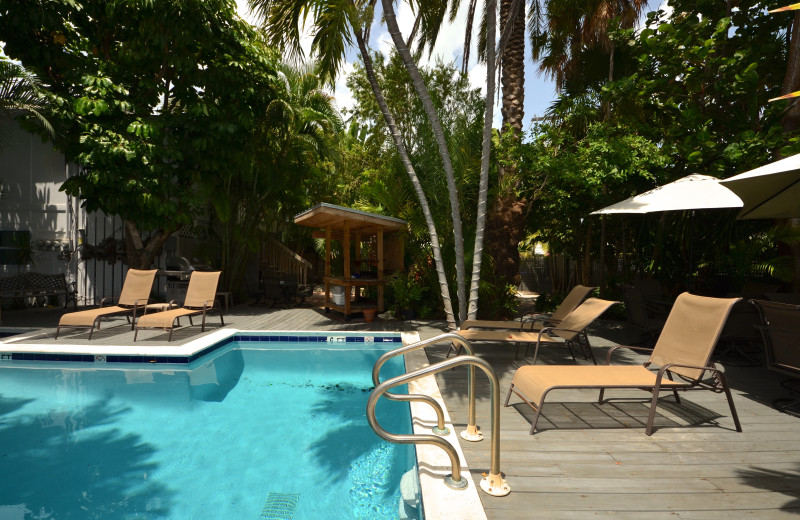 Outdoor pool at Key West Vacation Rentals.