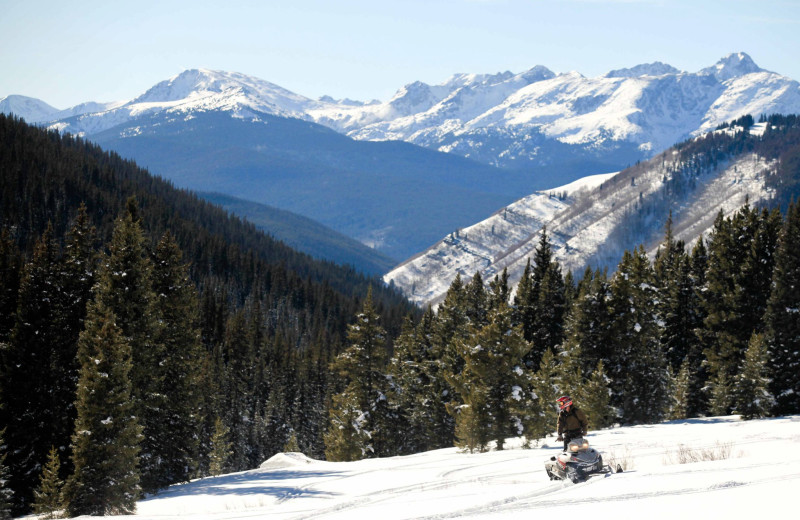 Snowmobiling Trails at Aspen Canyon Ranch