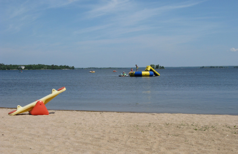 Beach at Herseth's Tomahawk Resort.