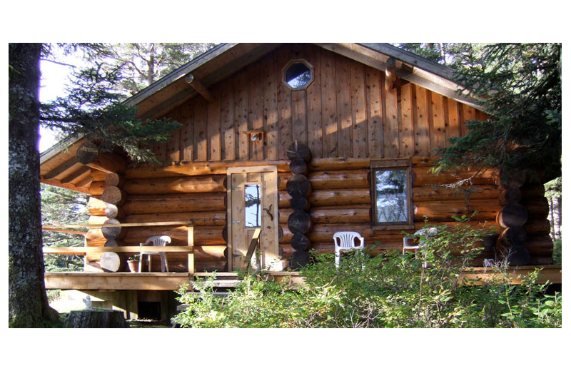 Cabin exterior at Afognak Wilderness Lodge.
