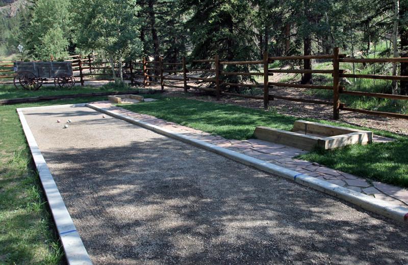 Bocce ball at Tumbling River Ranch.