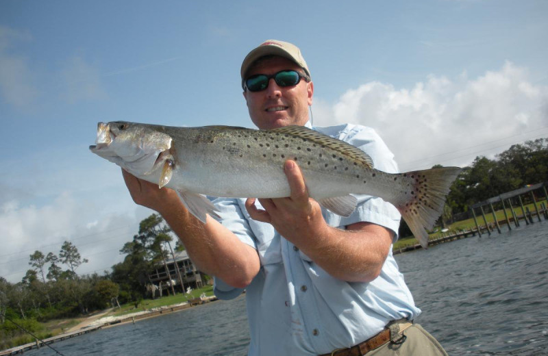 Fishing at Reed Real Estate Vacation Rentals.