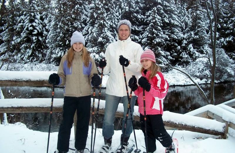 Skiing at Northwoods Lodge.