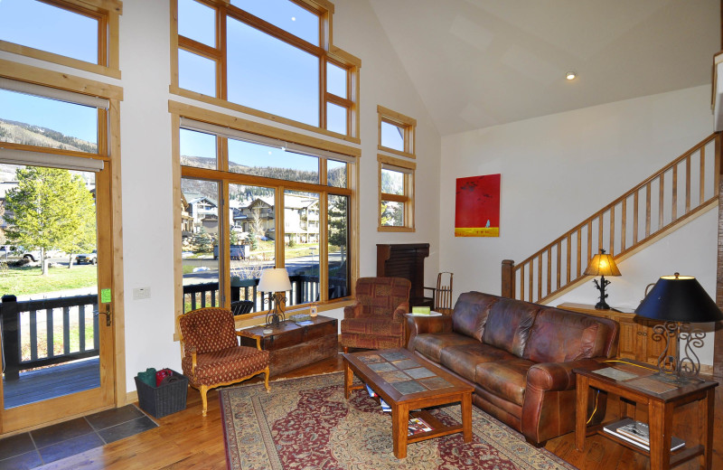 Rental living room a Steamboat Lodging Properties.