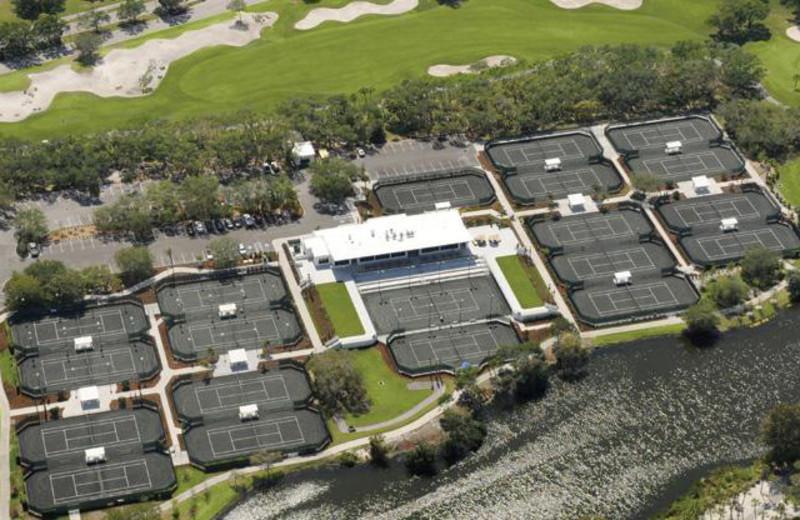 Aerial Tennis Court View at Longboat Key Club
